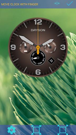 analog clock dayson live wallpaper screenshot 1