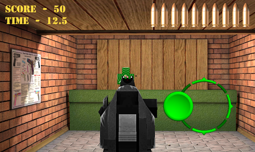 Pistol shooting at the target.  Weapon simulator 4.5 screenshots 10