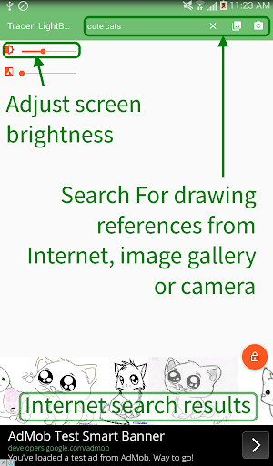 Tracer!  Lightbox tracing app  screenshots 2