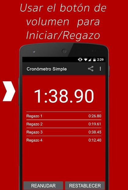 Captura 4 de Cronómetro Simple para android