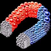 Magnetic Balls Magnet Game Bubble Battle 3d puzzle