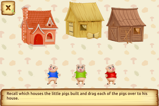 Three Little Pigs - Fairy Tale with Games apkdebit screenshots 3