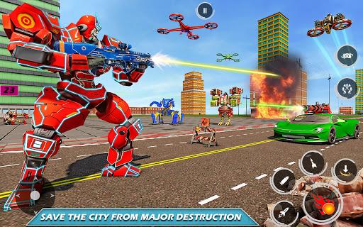Drone Robot Car Driving - Spider Wheel Robot Game  screenshots 1