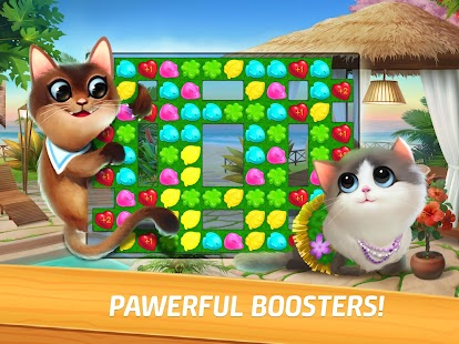 Meow Match: Cats Matching 3 Puzzle & Ball Blast Screenshot