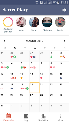 Sex Life - Sex Tracker, Diary of Sex, Sex Calendar 1.0.3 Screenshots 1
