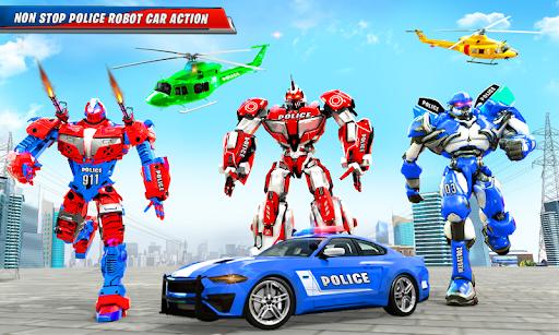 US Police Car Real Robot Transform: Robot Car Game android2mod screenshots 2