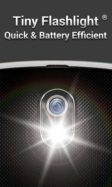 Screenshot 2 de Linterna - Tiny Flashlight ® para android