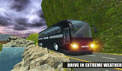 US Police Bus Mountain Driving Simulator  screenshots 10