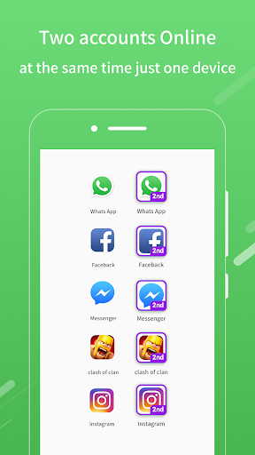2Face: 2 Accounts for 2 whatsapp, dual apps screenshots 1