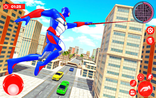 Flying Police Robot Rope Hero: Gangster Crime City  screenshots 7