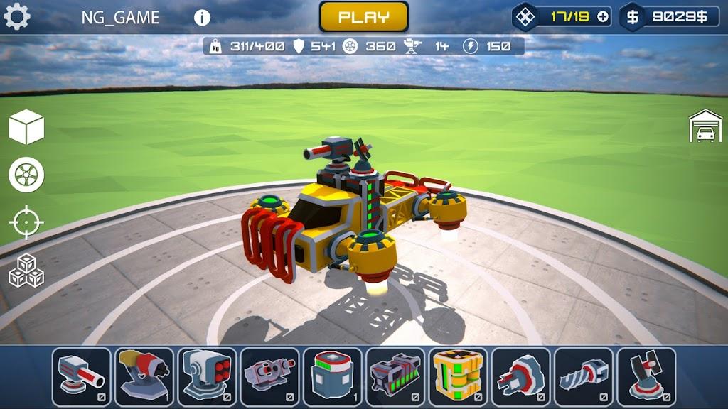 Block Tech : Tank Sandbox Craft Simulator Online  poster 1