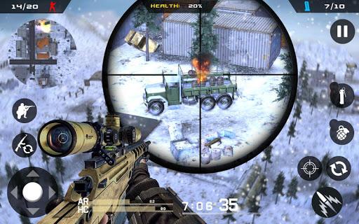 Winter Mountain Sniper - Modern Shooter Combat screenshots 8