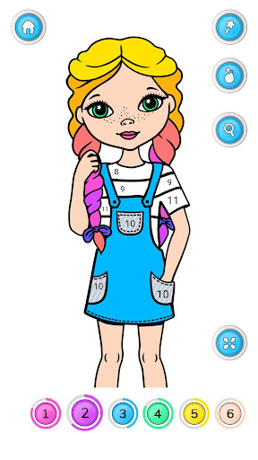 Girls Coloring Book - Color by Number for Girls 2.3.0.0 screenshots 2