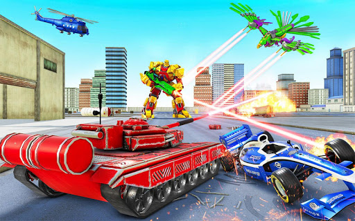 Tank Robot Game 2020 - Eagle Robot Car Games 3D 1.1.0 screenshots 5