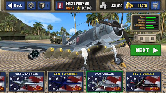 Air Combat Pilot: WW2 Pacific 1.12.007 MOD APK [UNLOCKED ALL WEAPONS] 2