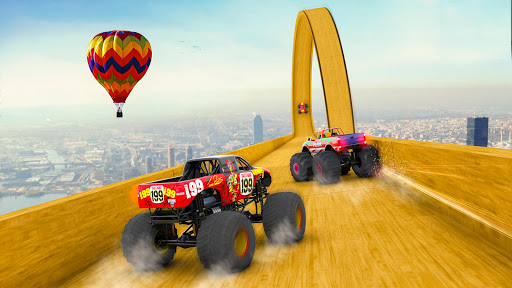 Mega Ramp Monster Truck Driving Stunts Racing Game apktreat screenshots 2