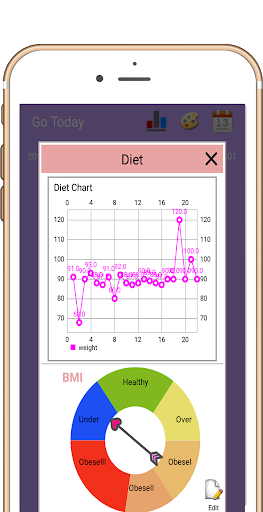 Foto do Food Diary - ( Simple Food Record * Weight Record)