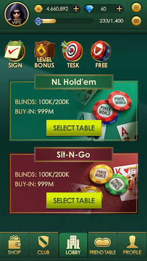 Poker World: Texas hold'em modavailable screenshots 6