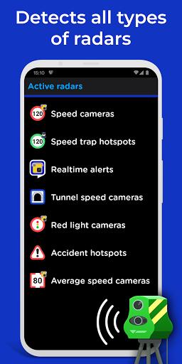 Radarbot Free: Detector de câmera de velocidade e velocímetro