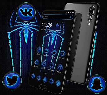 Blue Neon Light Spider For Pc – Free Download On Windows 10, 8, 7 2