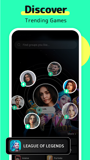 TIYA - Voice Chat Platform for Global Gamers apktram screenshots 1