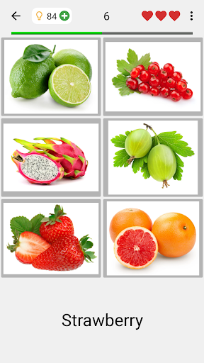 Fruit and Vegetables, Nuts & Berries: Picture-Quiz  screenshots 2