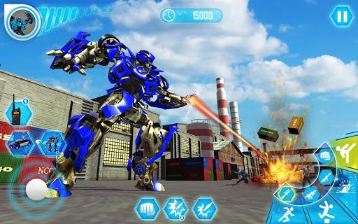 US Police Car Real Robot Transform: Robot Car Game 169 Screenshots 6