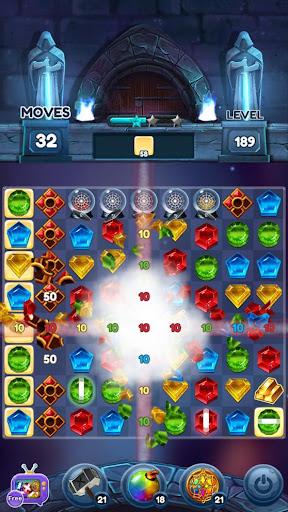 Magical Jewels of Kingdom Knights: Match 3 Puzzle apkdebit screenshots 6