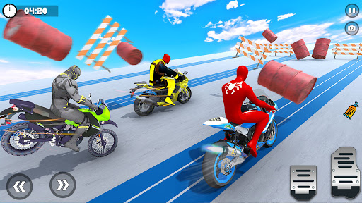 Superhero Tricky bike race (kids games) android2mod screenshots 9