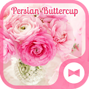 Pink Flower Wallpaper Persian Buttercup Theme