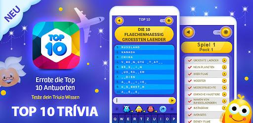Top 10 Trivia Quiz - Quizfragen 1.16 screenshots 7