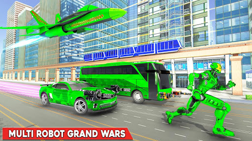 Army Bus Robot Transform Wars u2013 Air jet robot game 3.3 screenshots 4