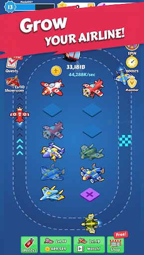 Merge Planes - Best Idle Relaxing Game  screenshots 8