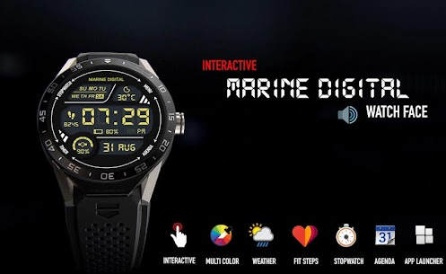 Marine Digital Watch Face & Clock Live Wallpaper 2.59 Download APK Mod 1
