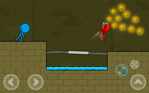 Red and Blue Stickman : Animation Parkour 1.0.6 screenshots 14