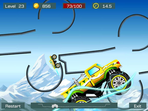 Monster Stunts -- monster truck stunt racing game apkslow screenshots 9
