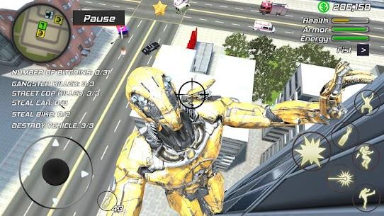 Super Crime Steel War Hero Iron Flying Mech Robot Mod Apk 1.2.5 (Free Shopping) 5