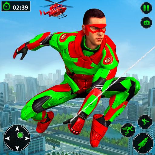 Light Robot Superhero Rescue Mission