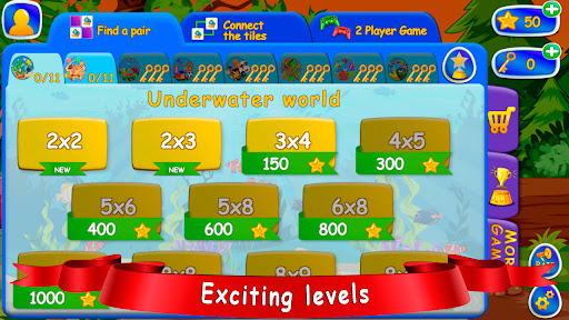 Pair matching and Tile Connect! For kids screenshots 2