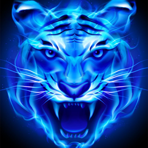 Neon Blue Tiger Wallpaper Apps On Google Play