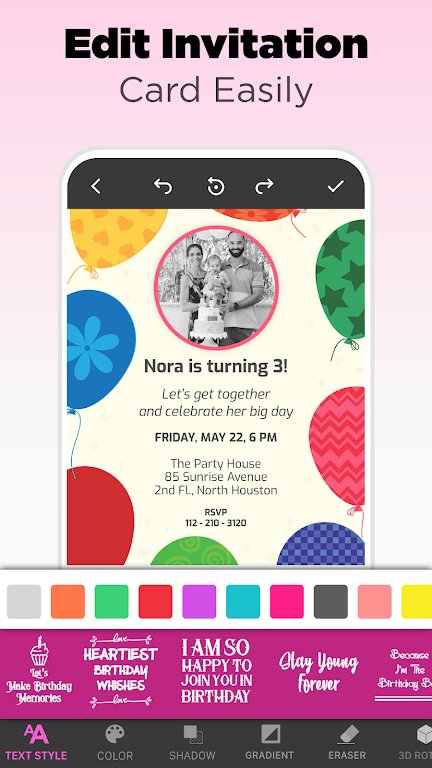 Invitation Maker - Birthday & Wedding Card Design poster 5
