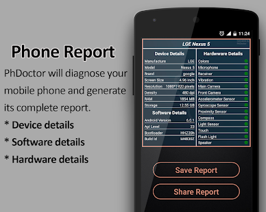 PhDoctor (Mobile Phone Checker / Tester & Info) Screenshot