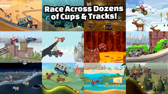 Hill Climb Racing 2 MOD (Unlimited Money Maps Unlock) For Android 2