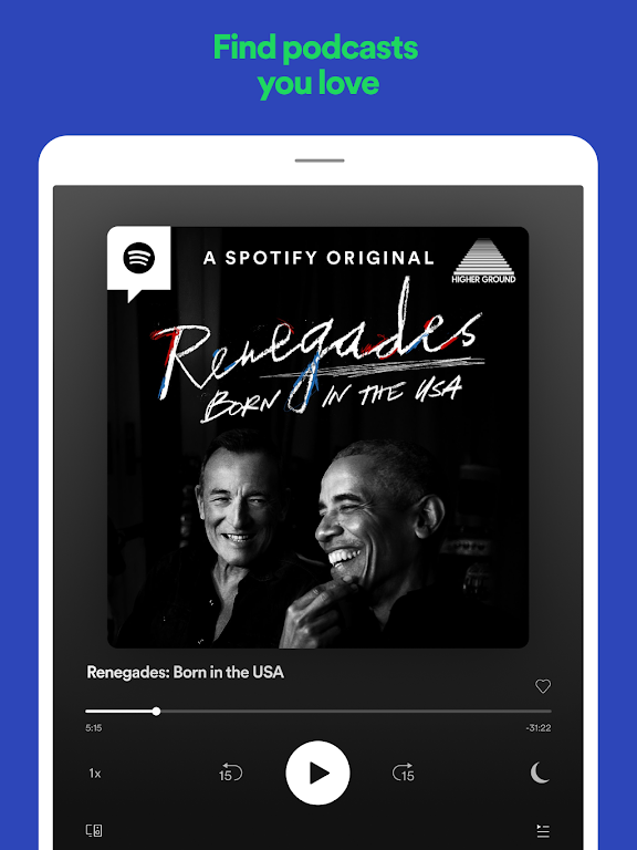 Spotify: Listen to podcasts & find music you love  poster 9