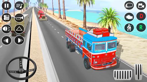 Indian Truck Modern Driver: Cargo Driving Games 3D apktram screenshots 1
