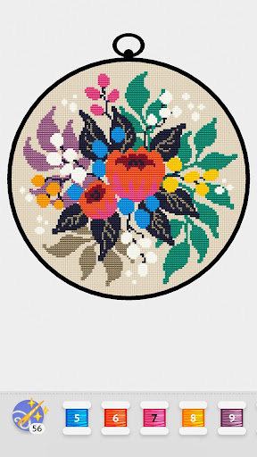 Cross Stitch Club u2014 Color by Numbers with a Hoop 1.4.32 screenshots 8