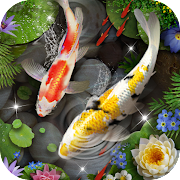 Koi Fish Theme & Lively 3D Ripple Effect  Icon