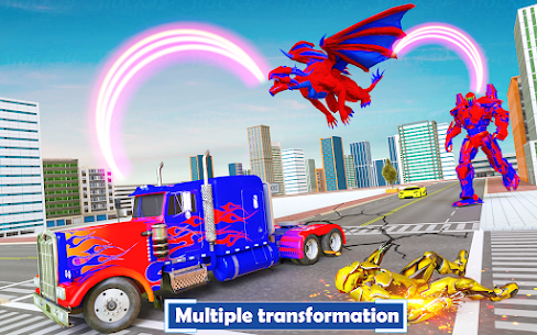 Flying Dragon Transport Truck Transform Robot Game 8