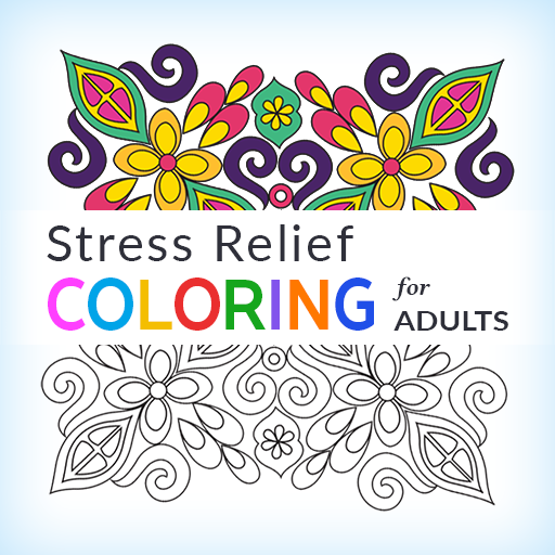 Stress Relief Adult Color Book icon