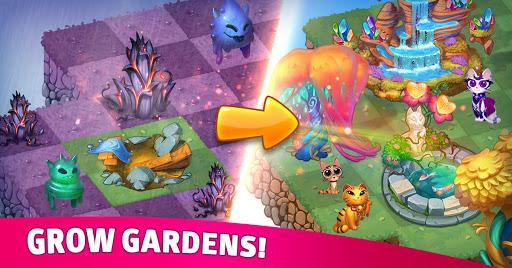 Merge Cats: Magic merging, garden renovation games screenshots 2